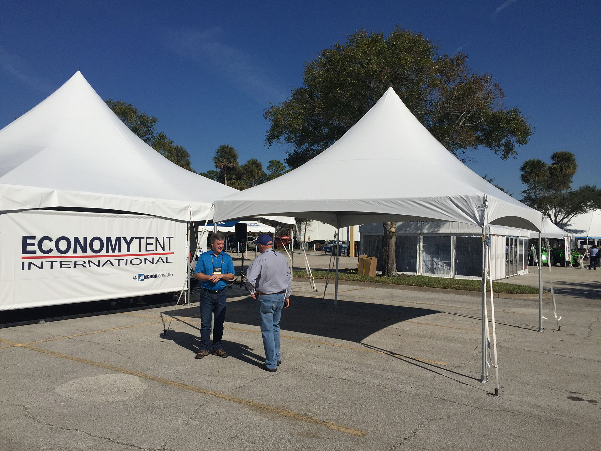 View a few of the Exhibitors at the Tent Expo and the use of our steel tent stakes for these commercial event tents. & Steel Event Tent Stake Use at Tent Expo - Hogan Tent Stakes