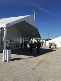 Mingling at Tent Expo