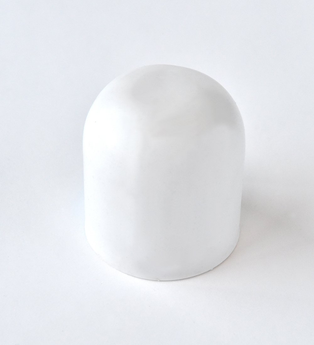 plastic tent stake safety cap (white)