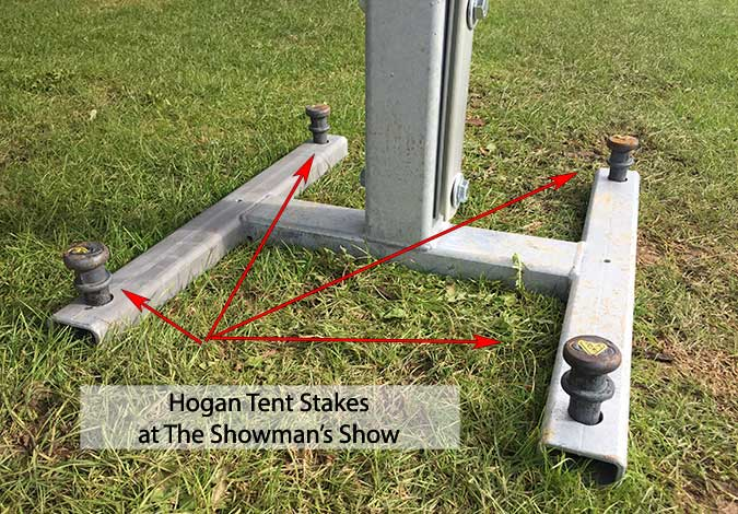 Hogan Tent Stakes At The Showman's Show