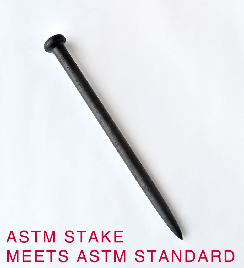 1 X 18 Single Head - Meets ASTM Standards - Hogan Tent Stakes