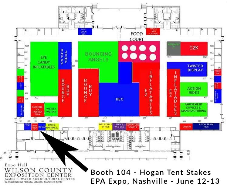 Hogan Tent Stakes Booth 104 EPA Expo