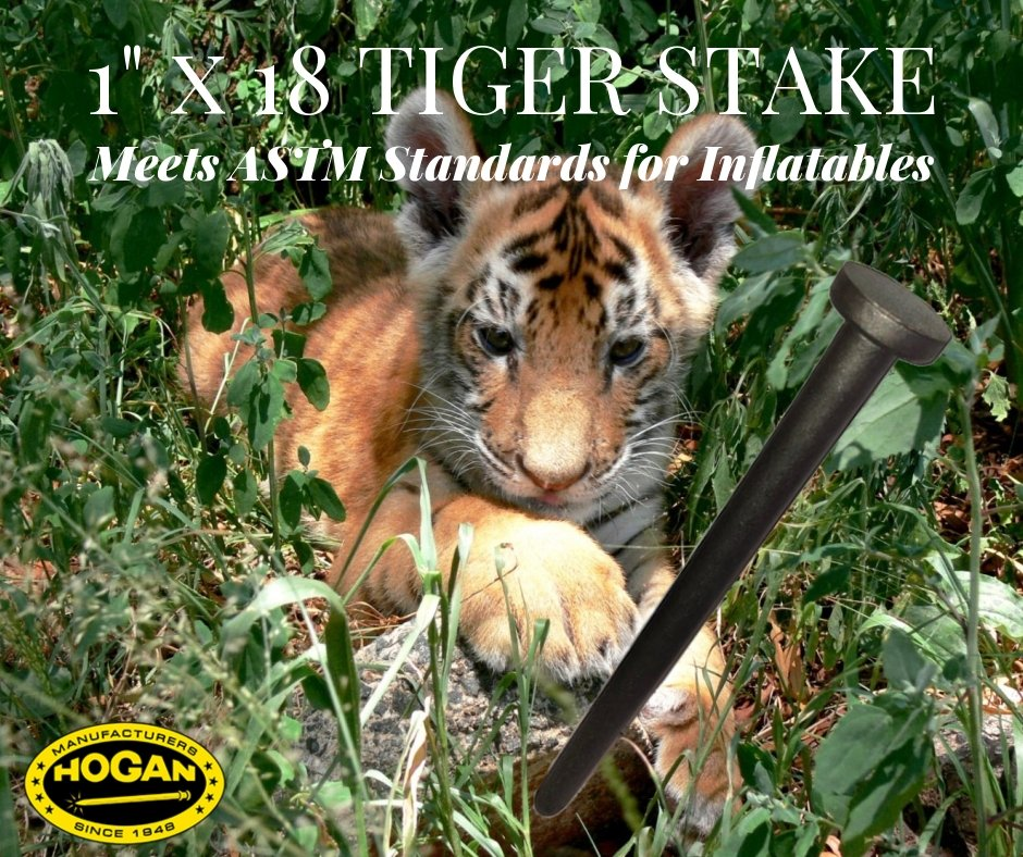 ASTM Stake For Inflatables – 18 In Steel Stake
